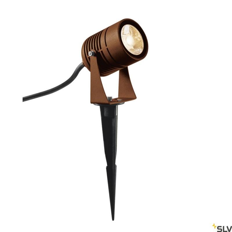 Intalite 1002203I LED SPIKE, LED outdoor ground spike luminaire, rust coloured, IP55, 3000K, 40°