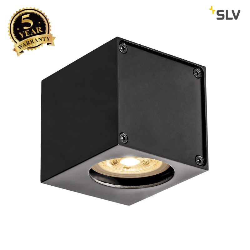 Intalite 1002212I ALTRA DICE WL-1, indoor surface-mounted wall light, QPAR51, black