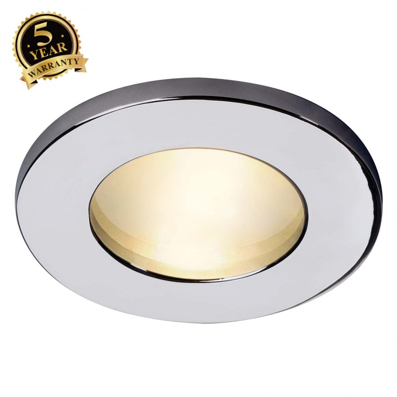 SLV 111002 DOLIX OUT MR16 ROUND downlight, chrome, max. 35W