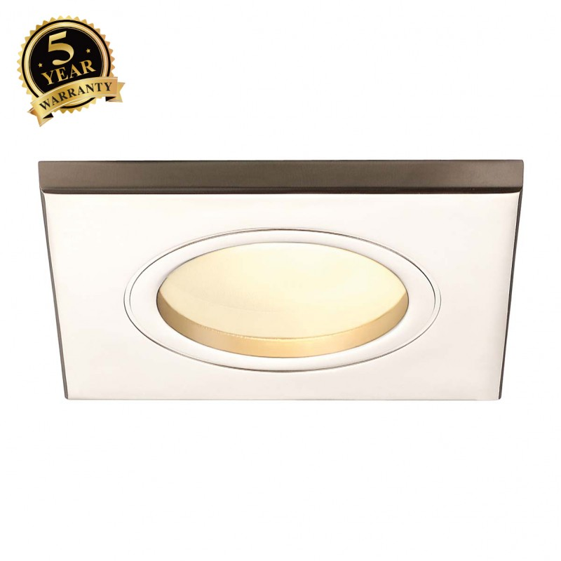 SLV 111147 DOLIX OUT GU10 SQUARE downlight, titanium, max. 35W