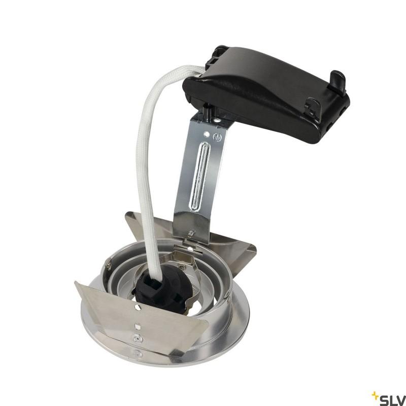 SLV 111716 NEW TRIA GU10 ROUND downlight,alu brushed, max. 50W, incl.leaf springs