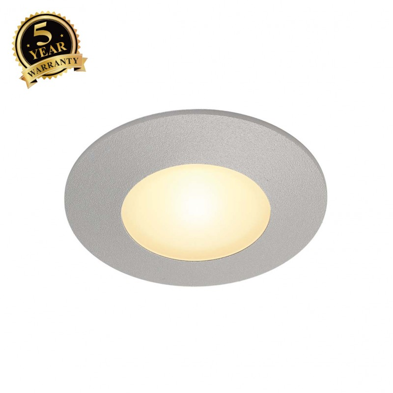 SLV 112344 AITES LED ROUND for junctionboxes, silver-grey, 3000K