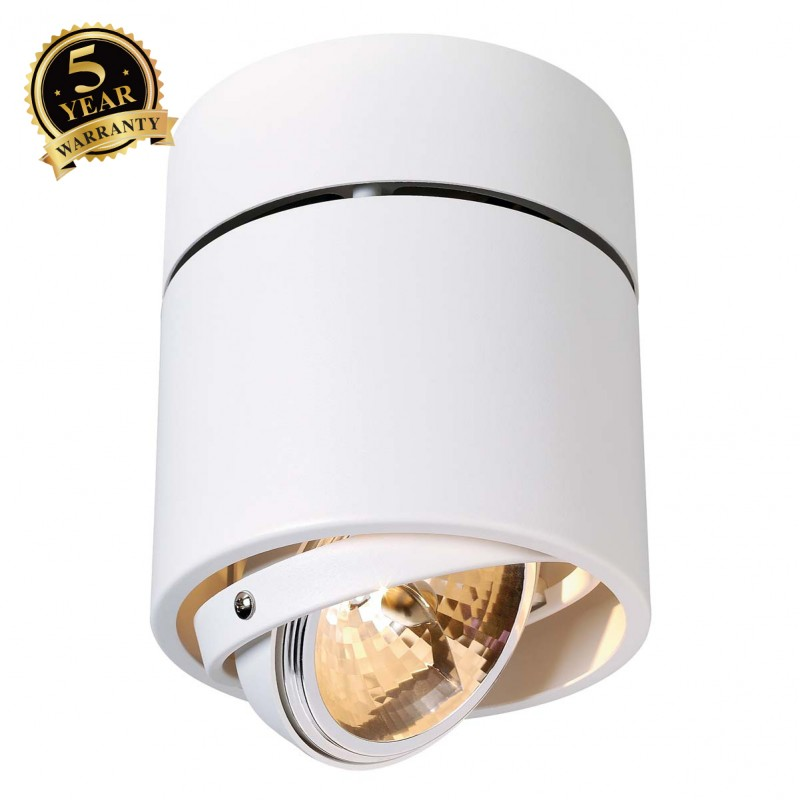 SLV 117171 KARDAMOD SURFACE ROUND QRBSINGLE ceiling light, round,white, max. 50W