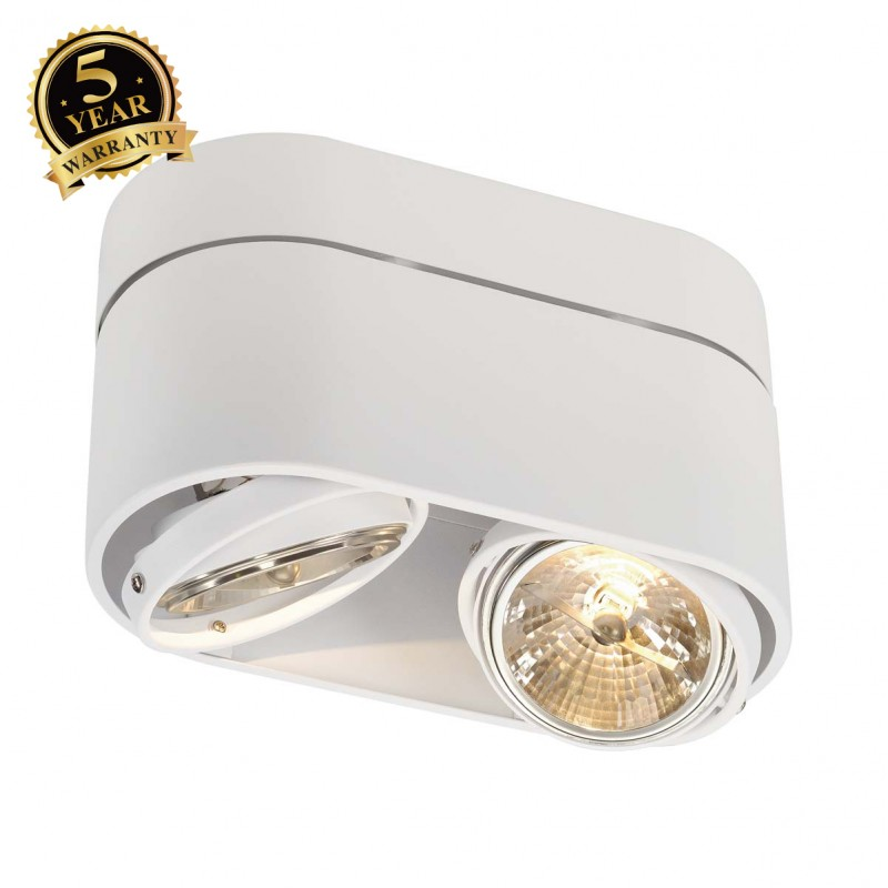 SLV 117191 KARDAMOD SURFACE ROUND QRBDOUBLE ceiling light, round,white, max. 2x50W