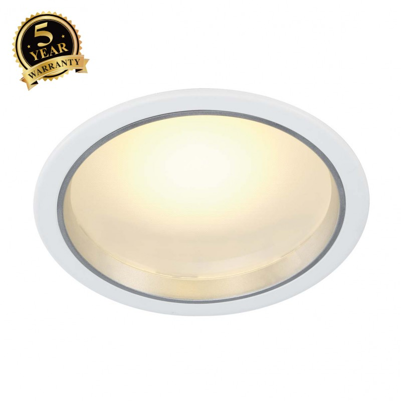 Slv 160461 led downlight 36 3 20w 3000k white light slv - Downlight led 20w ...